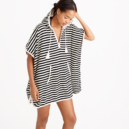 Hooded terry poncho dress