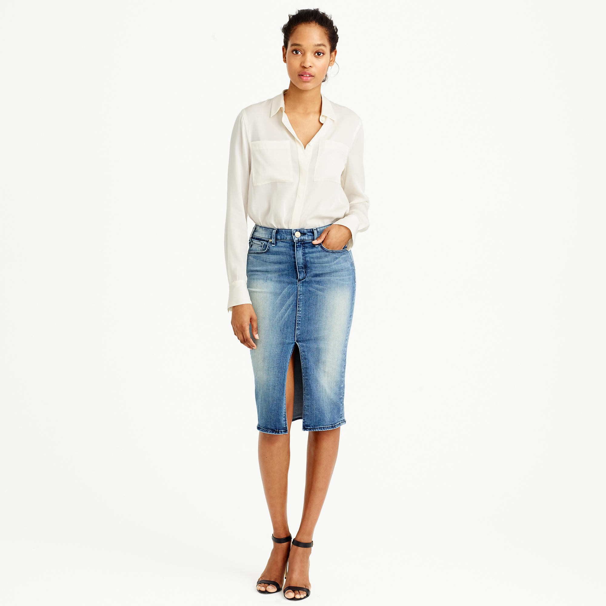 McGuire™ Marino denim skirt in royalist wash : Women denim | J.Crew