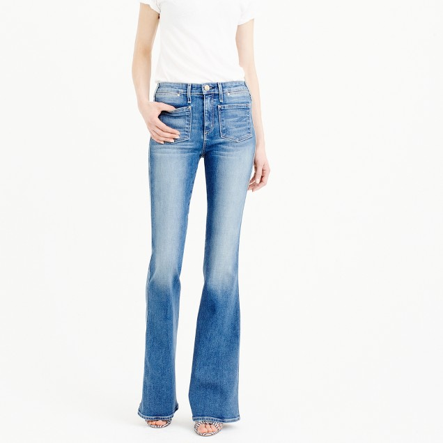 Mcguire™ Inez patch flare jean in indigo