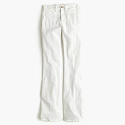 Mcguire™ Inez patch flare jean in white