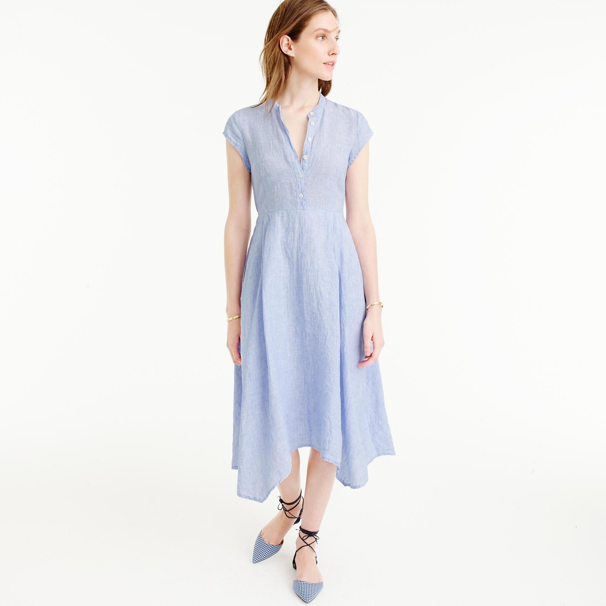 Short-Sleeve Shirtdress In Linen : Women&-39-s Dresses - J.Crew
