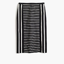 Tall mixed-stripe pencil skirt