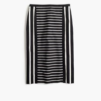 Petite mixed-stripe pencil skirt