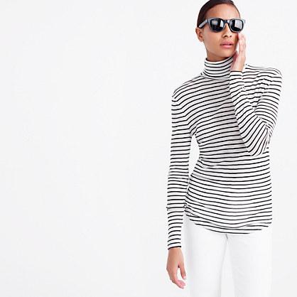 10 percent turtleneck T-shirt in stripe