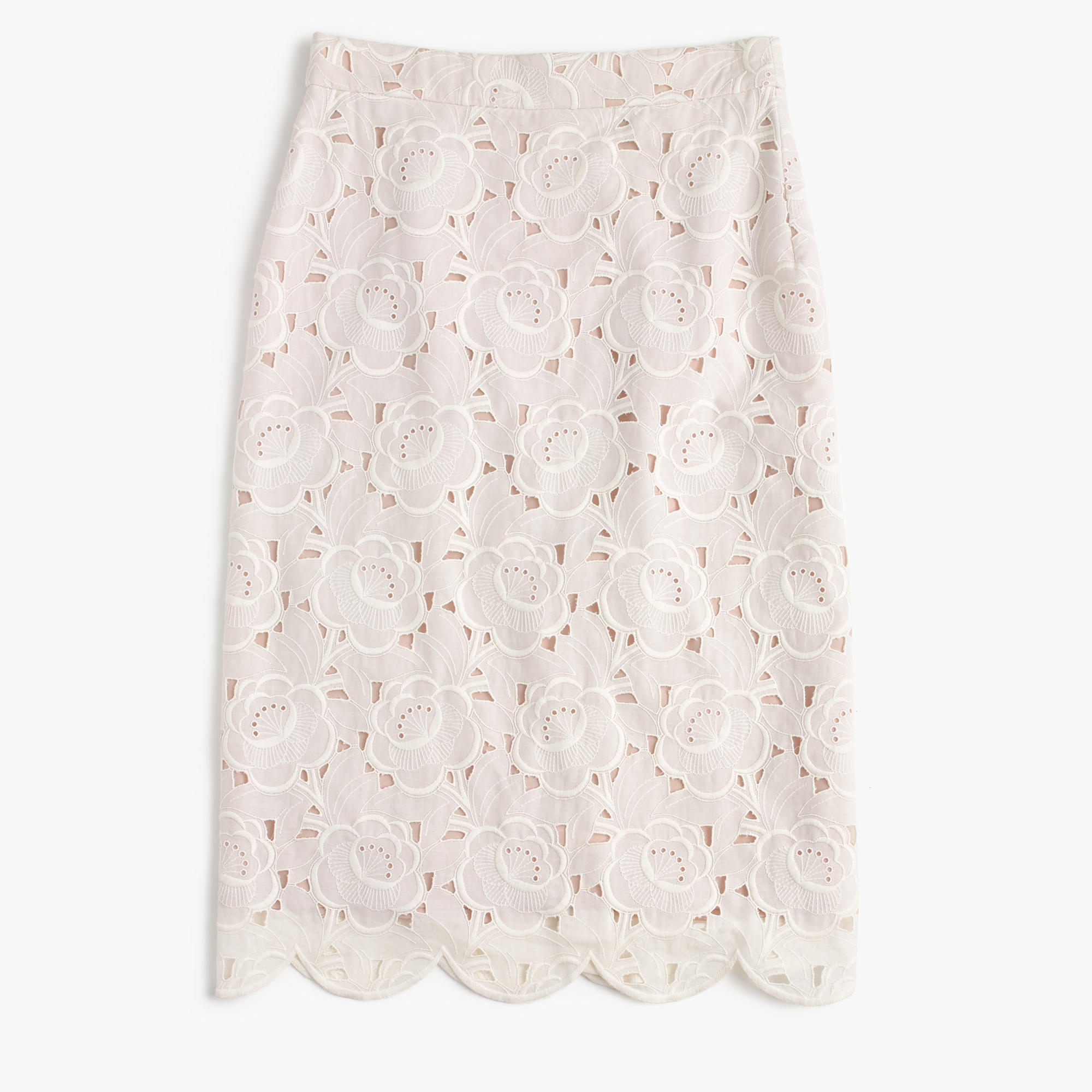 J Crew COLLECTION PENCIL SKIRT IN AUSTRIAN LACE