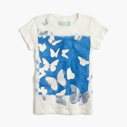 Girls' glow-in-the-dark butterfly T-shirt