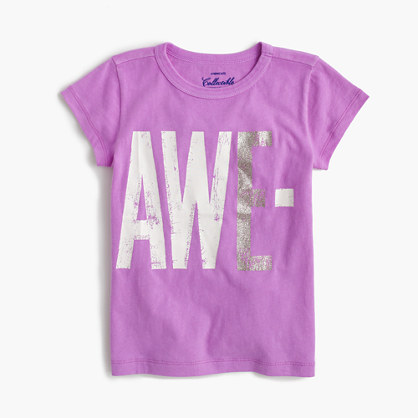 "Girls' ""awesome"" T-shirt"