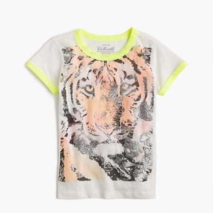 Girls 39 Tiger T Shirt Short Sleeve T Shirts J Crew