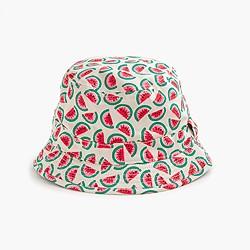 Girls' bucket hat in mini watermelon
