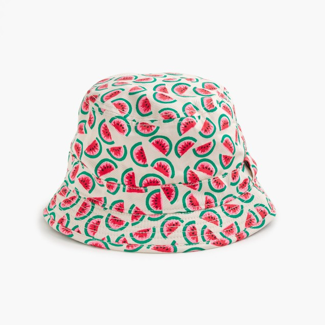 Girls' bucket hat in mini watermelon
