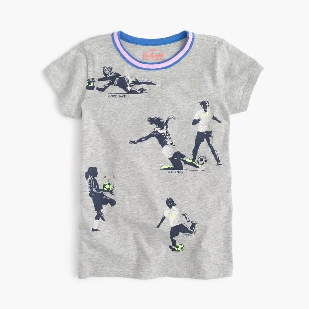 Girls soccer moves T-shirt