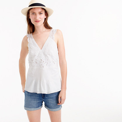 Collection embroidered summer top