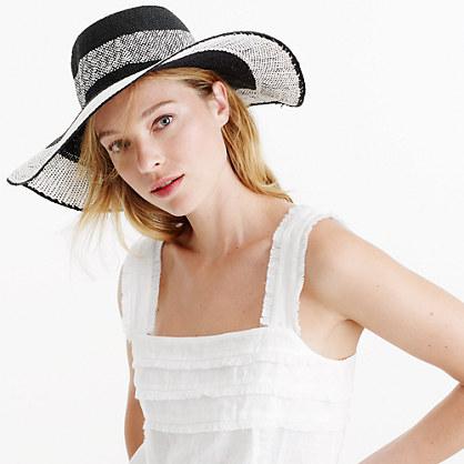 Colorblock straw hat