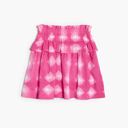 Girls' tie-dye pull-on ruffle skirt