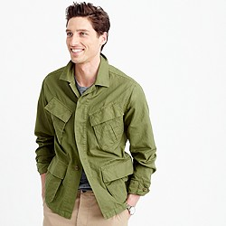 Wallace & Barnes cotton-linen military shirt