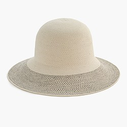 Contrast-brim hat in cotton
