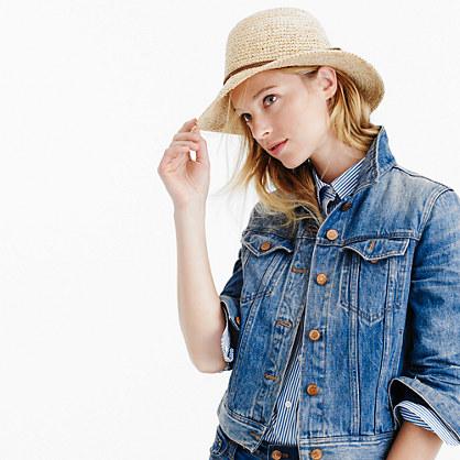 Straw hat with tassels