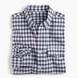 Slim lightweight oxford shirt in plaid
