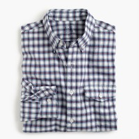 Slim lightweight oxford shirt in plaid