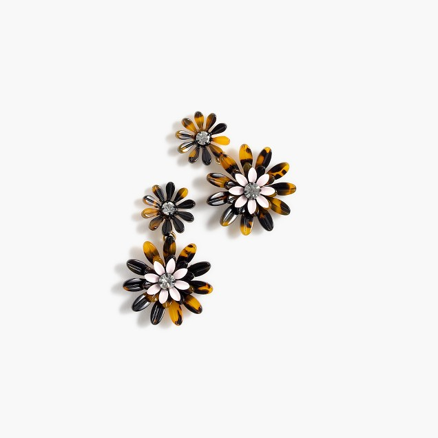 Daisy tortoise earrings