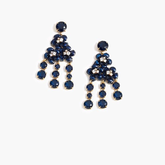 Midnight floral earrings