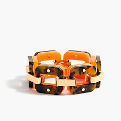Tortoise and Lucite link bracelet