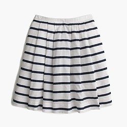 Mini skirt in nautical stripe