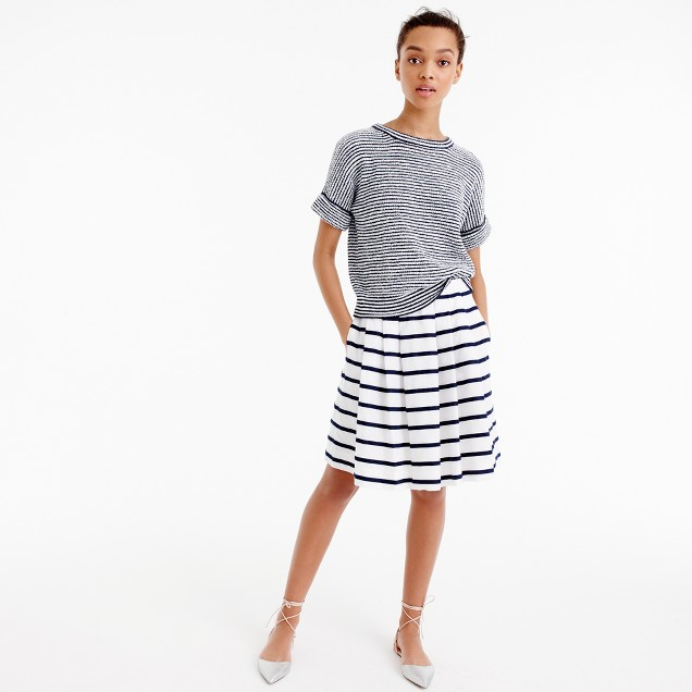 Mini skirt in nautical stripe