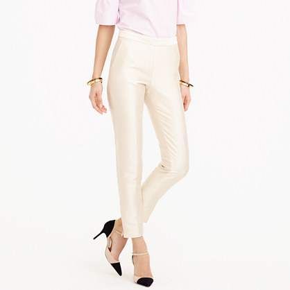 Collection petite cigarette pant in heavy shantung