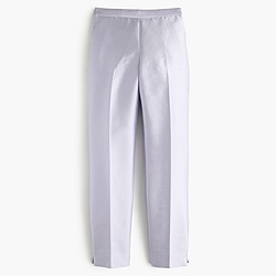 Collection cigarette pant in heavy shantung