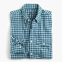 Slim lightweight oxford shirt in check