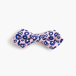 Boys' silk bow tie in neon floral