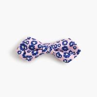 Boys' silk bow tie in neon floral