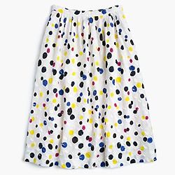 Collection tossed dot midi skirt