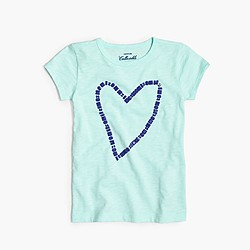 Girls' gem heart T-shirt