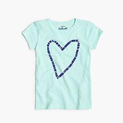Girls' gem heart T-shirt