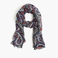Mixed paisley scarf