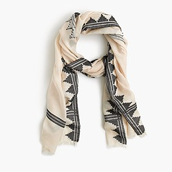 Arrow border scarf