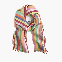 Candy-stripe scarf
