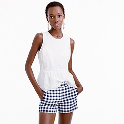 Gingham cotton short