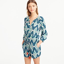 Cotton romper in colorful ikat