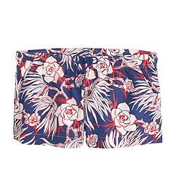 Board short in retro floral