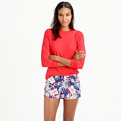 Board short in retro floral