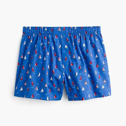 Striped sailboat print boxers