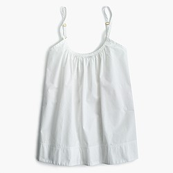 Cotton swing cami in white