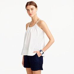 Cotton swing cami in white