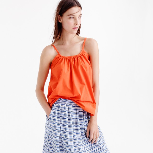 Cotton swing cami in bright persimmon