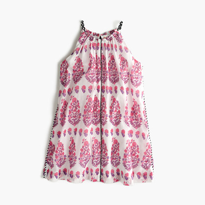 Girls' paisley summer dress
