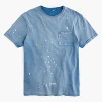 Garment-dyed splatter T-shirt