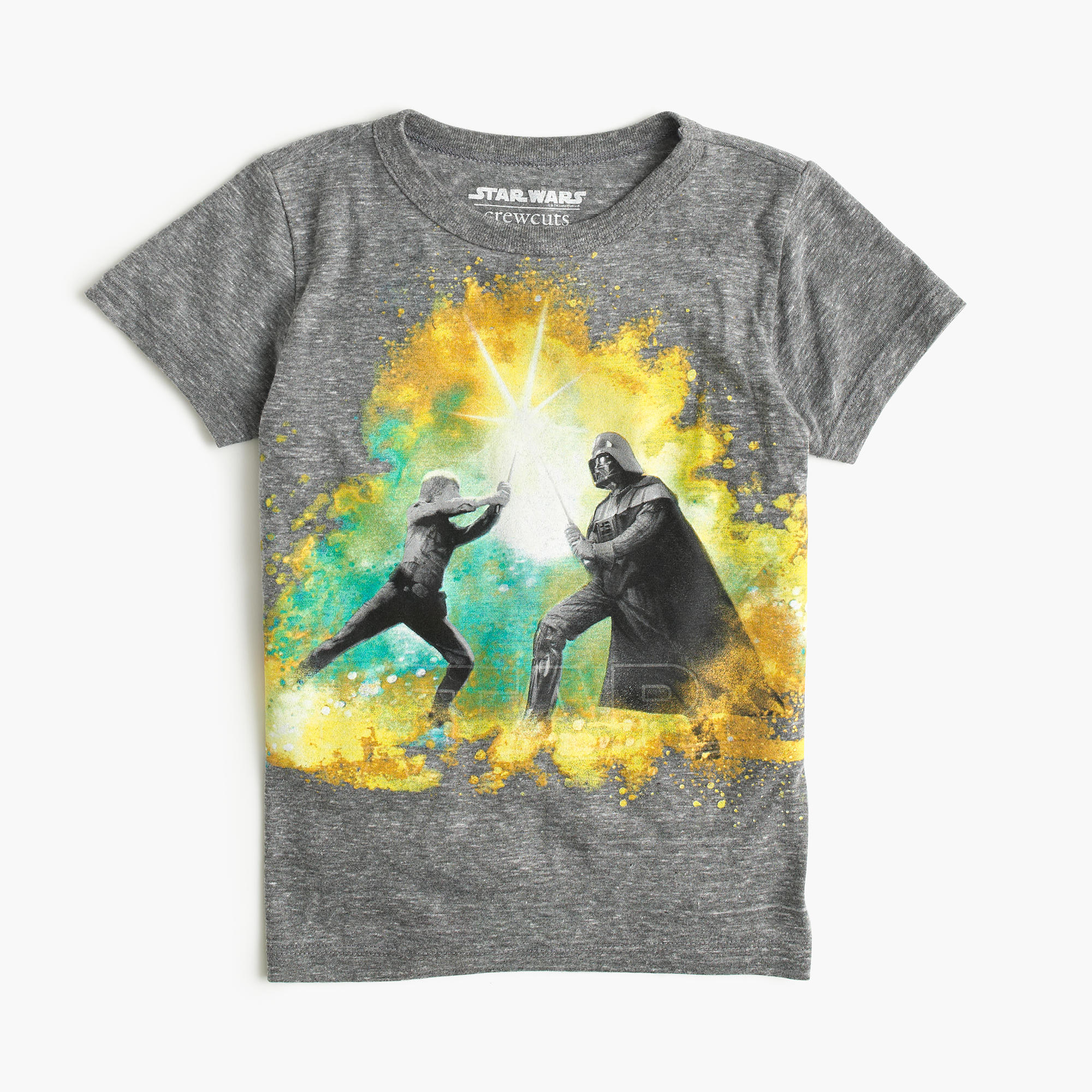 kids 39 star wars for crewcuts glow in the dark skywalker vs vader t shirt j crew. Black Bedroom Furniture Sets. Home Design Ideas